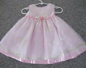 Vintage special dress, baby girl fancy dress, easter dress, pink fancy dress, princess dress, 6/9 months