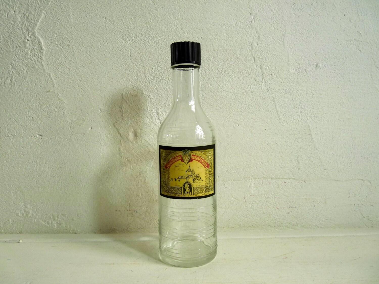 vintage eau de cologne bottle du mont st michel with