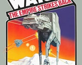 """Star Wars 24 x 36 Atari 2600 / Parker Brothers 1982 """"The Empire Strikes Back"""" Video Game Promotional Poster - Video Games ATARI Retro Gift"""