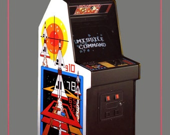 ATARI Missile Command Video Game Stand-Up Display - ATARI Collectibles ATARI Memorabilia Retro Video Games kiss76