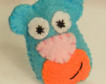 Cubby Bear Cutie Catnip Toy - Hand Cut & Sewn - You Pick The Color