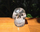 Quartz Crystal Skull with Rainbows - Cleansed during Full Moon - 90 grams