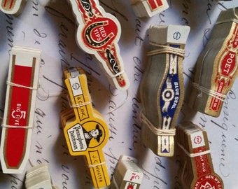100 Assorted Antique Cigar Labels Lot for Collage, Altered Art, Mixed Media, etc...