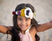 Felt Flower Crown - Flower Girl, Photo Prop