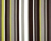Home Decor Drapery Bedding Upholstery Fabric Robert Allen Kukula Noir Stripe Black Gray Lime Citrine