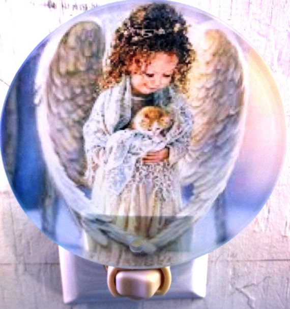 angel night light, religious night light, child night light, bathroom night light, kitchen night light,