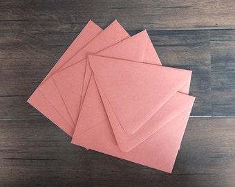 "A2 Pointed Flap Envelopes - Set of 10 - Coral - Fits 4.25"" x 5.5"" Card"