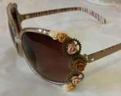 Gear And Rose Steampunk Sunglasses