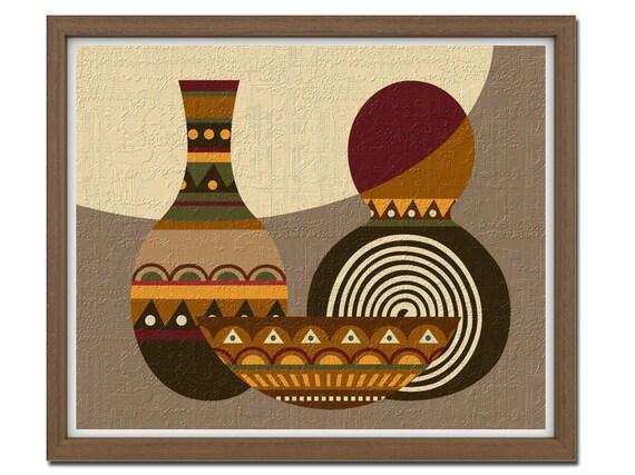 pop art african abstract pattern design ethnic motif by. Black Bedroom Furniture Sets. Home Design Ideas