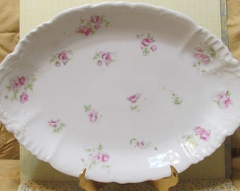 Beautiful Red rose Austrian platter 1950's