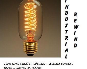 Edison Bulbs for your Ball JAR CHANDELIERS - Antique Style Bulb - Choice Vintage Style Bulbs - 110v  Radio Bulb