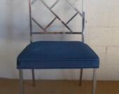Beautiful Milo Baughman Chrome Fretwork Chippendale Chair