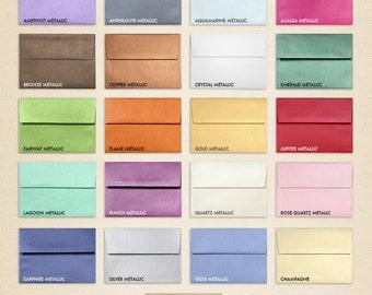 A7 Invitation Envelopes w/Peel & Press (5 1/4 x 7 1/4) - Metallics Collection (50 Qty.)