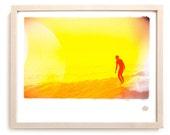 "Surf Photo Art Print ""Yellow"" - Borrowed Light Series"