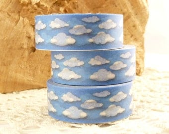 Fluffy Clouds and Blue Sky Washi Tape - I1580