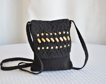 Vintage Small Beaded Crochet Purse