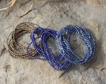 West African Beaded Multi-String Bracelets