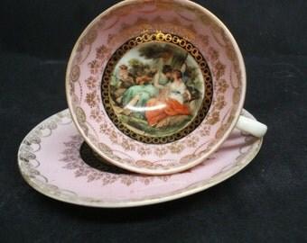 Gorgeous  ROYAL VIENNA DEMITASSE Set Precious Vintage Cup and Saucer Demitasse Set by Royal Vienna