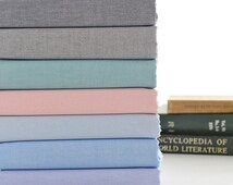 Fabric Oxford Cotton Pastel Blue Green Pink Navy Black Basic Solid Cotton Fabric - 1/2 Yard