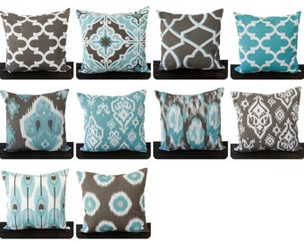 Light Blue And Brown Decorative Pillows : The largest selection of throw pillow covers by ThePillowPeople