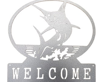 Marlin Welcome Sign