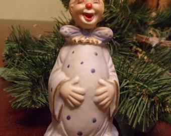 Light Blue Ceramic Circus Clown Bell   (T)