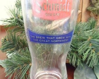Schmidt Beer Glass Tap Glass, 8 oz Glass Schmidt Beer Drinking Glass (T)