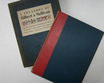 SALE, Vintage Treasury of Gilbert and Sullivan, circa 1940, Hardback book with case, Home Decor, Music Lover, gift idea