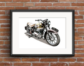 Ariel Square Four Mkll Motorbike POSTER PRINT A1 size