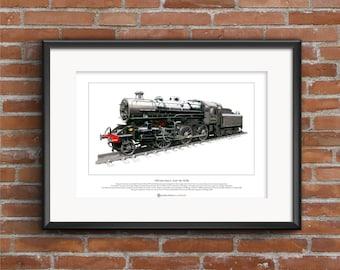 LMS Ivatt Class 4 2-6-0 No. 43106 Limited Edition Fine Art Print A3