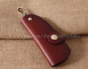 New Leather Key Holder , Leather key bag , Car key bag,  Brown 1pcs