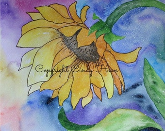 Digital art, digital download, flower, sunflower, floral, flowers, sun flowers