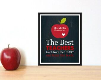 Teacher Appreciation Gift Custom Print PDF Digital Download