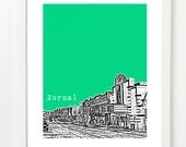 Normal Illinois Poster- City Art Print - Downtown Normal Illinois - Bloomington-Normal - Gift Under 25