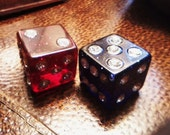 reserved Lucite and Crystal Dice