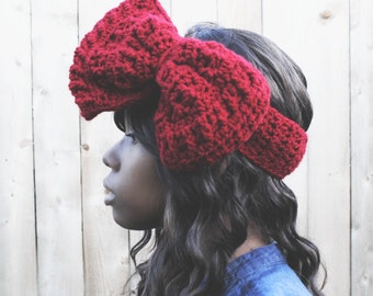 The Super Crochet Bow Headband.