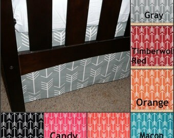 Arrow Flat Crib Skirt 4-sided