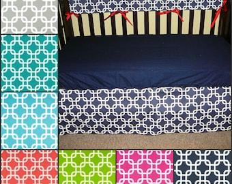 Premier Prints Gotcha Flat Crib Skirt 4-sided