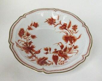 Porcelain Haviland Limoges Dish, Made in France, Floral Pattern