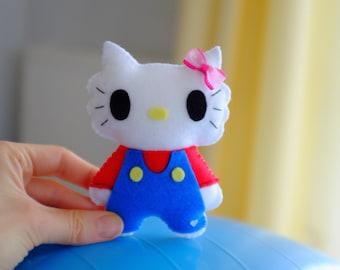 Mario kitty handmade felt plush doll
