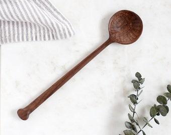 Hand Carved Walnut Wood Spoon