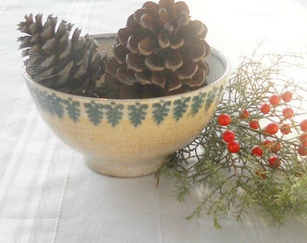 Rustic Vintage Small Serving Bowl, Shabby Romantic Cottage, Rustic Farmhouse, Holiday Decor