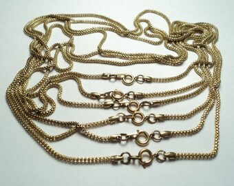 6 pcs - 1.2mm Brass Rolo 18 inch Neckchains - m296