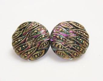 Colorful Stud Earrings, Czech Glass Earrings, Unique Earrings, Gift For Her
