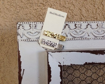 Gold or Silver glitter clippies
