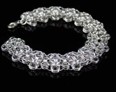 Chunky Silver Chainmaille Bracelet