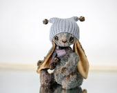 Artist Teddy bear Bunny Koko  - Traditional Collectible teddy bunny - OOAK teddy bear 17cm tall