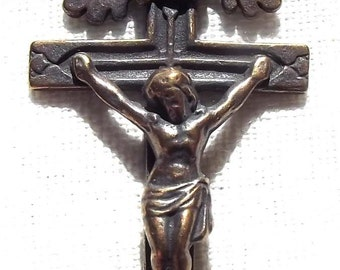 Crucifix with Leaf Rays Catholic Rosary Part Supply