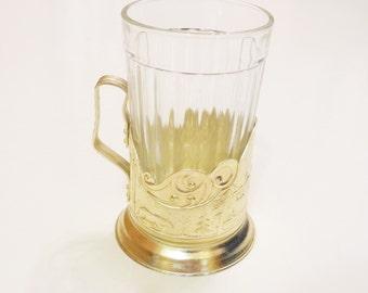 Soviet vintage, Tea Glass Holder from USSR, Coaster, Coaster sets, Drink coasters