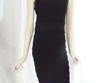 Vintage DIANE VON FURSTENBERG L-B-D Fitted tank dress with bandage shape /stitch seaming :size 8